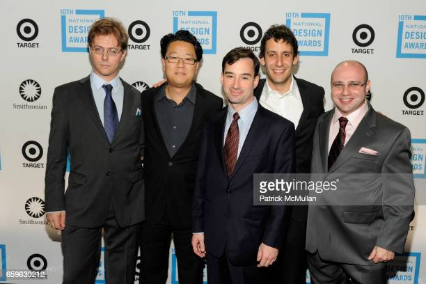 Phil Davidson Jeff Han Perry Ziff Jason Reisman and Jeremy Weinberger attend NATIONAL DESIGN AWARDS Gala at Cipriani 42 St on October 22 2009 in New...