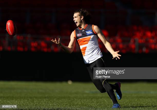 Phil Davis of the Giants trains during a Greater Western Sydney Giants AFL training session at Spotless Stadium on July 5, 2017 in Sydney, Australia.