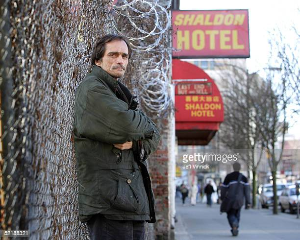 Phil Denbak a long time heroin user stands on East Hastings Street February 9 2005 in Vancouver Canada Denbak hopes to qualify for the new...