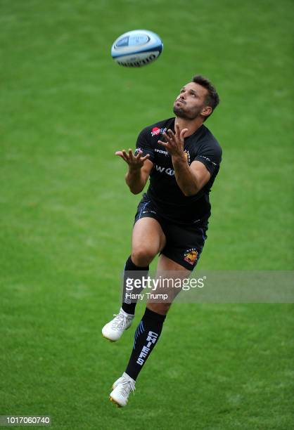 Rob Baxter Director of Rugby of Exeter Chiefs looks on during a training session at Sandy Park on August 15 2018 in Exeter England