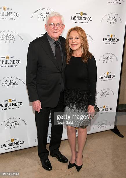Phil Donahue and Actress Marlo Thomas attend the 2015 New York Stage And Film Gala at The Plaza Hotel on November 15 2015 in New York City