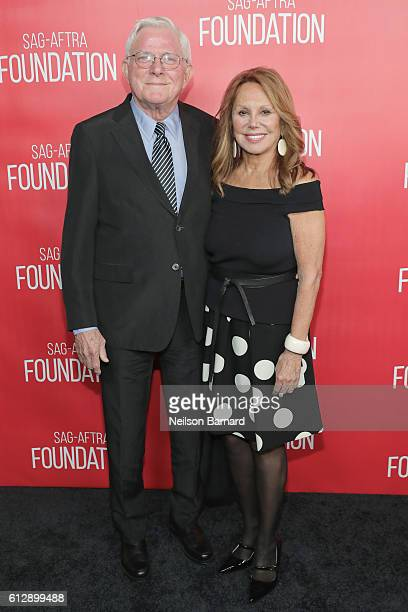 Phil Donahue and actress Marlo Thomas attend the grand opening Of SAGAFTRA Foundation's Robin Williams Center on October 5 2016 in New York City