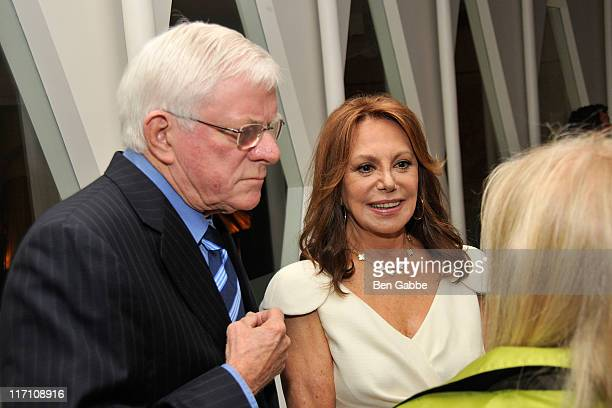 Phil Donahue and Marlo Thomas attend the 2011 Jefferson Awards for Public Service at Le Cirque on June 22 2011 in New York City