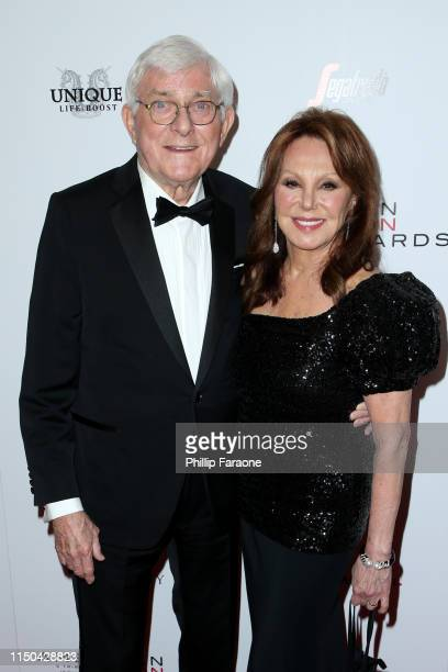Phil Donahue and Marlo Thomas attend the American Icon Awards at the Beverly Wilshire Four Seasons Hotel on May 19 2019 in Beverly Hills California