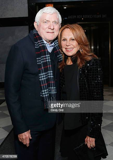 Phil Donahue and Marlo Thomas attend the Elaine Stritch Shoot Me screening reception at Paley Center For Media on February 19 2014 in New York City