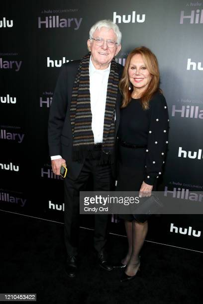 Phil Donahue and Marlo Thomas attend the Hillary New York Premiere at Directors Guild of America Theater on March 04 2020 in New York City