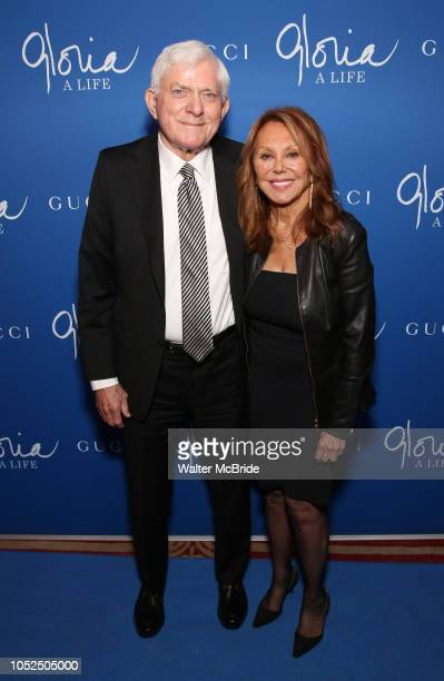 Phil Donahue and Marlo Thomas attend the Opening Night Performance After Party for Gloria A Life on October 18 2018 at the Gramercy Park Hotel in New...