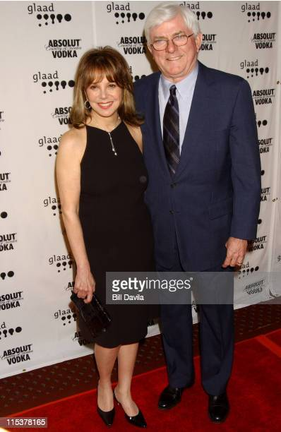 Phil Donahue and Marlo Thomas during 14th Annual GLAAD Media Awards at Marriott Marquis Hotel in New York NY United States