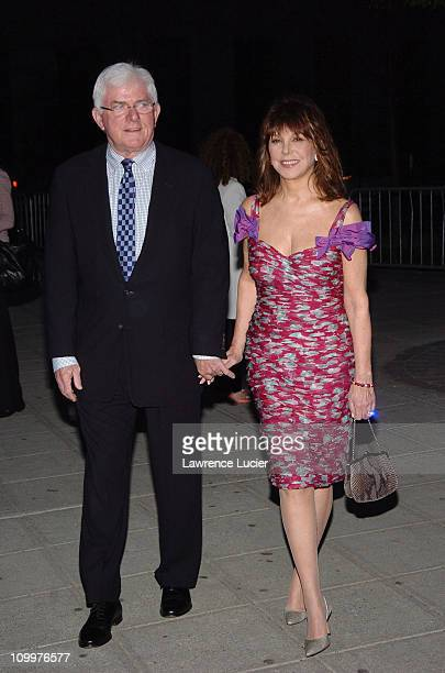 Phil Donahue and Marlo Thomas during 4th Annual Tribeca Film Festival Vanity Fair Party at New York Supreme Court in New York City New York United...