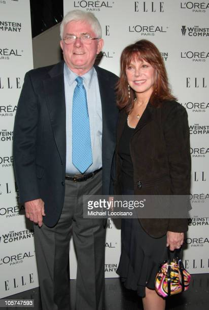 Phil Donahue and Marlo Thomas during Derailed New York City Premiere Presented by L'Oreal and ELLE Magazine at Loews Theatre Lincoln Square in New...