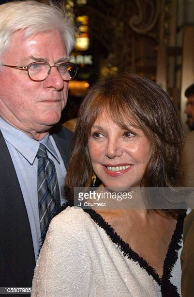 Phil Donahue and Marlo Thomas during Opening Night of 'Sly Fox' on Broadway Arrivals at Ethel Barrymore Theatre in New York City New York United...
