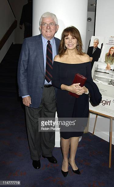 Phil Donahue and Marlo Thomas during Special Screening of Shopgirl Hosted by Tina Brown and Harry Evans at The New Beekman Theatre in New York City...