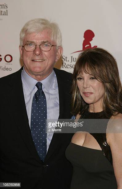 Phil Donahue and Marlo Thomas during St Jude Runway for Life at Beverly Hilton in Beverly Hills California United States