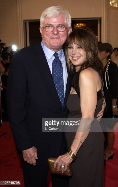 Phil Donahue and Marlo Thomas during St Jude Runway For Life Red Carpet at Beverly Hilton Hotel in Beverly Hills California United States