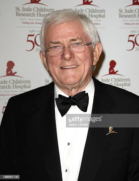Phil Donahue attends the St Jude Children's Research Hospital 50th anniversary gala at The Beverly Hilton hotel on January 7 2012 in Beverly Hills...