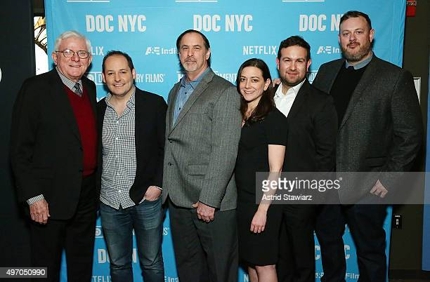 Phil Donahue director Tom Donahue Dr Mark Russell Jill Schweitzer Ilan Arboleda and Matt Tyson attend DOC NYC Premiere of Thank You For Your Service...