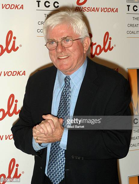 Phil Donahue during 2003 Creative Coaltion Spotlight Awards at Sotheby's in New York City New York United States