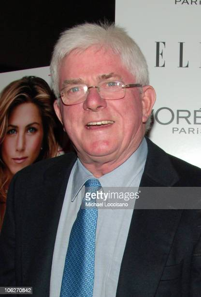 Phil Donahue during Derailed New York City Premiere Presented by L'Oreal and ELLE Magazine at Loews Theatre Lincoln Square in New York City New York...