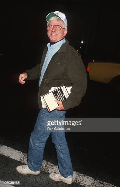 Phil Donahue during Phil Donahue Sighted at NBC TV Studios October 111993 at NBC TV Studios in New York City New York United States