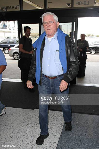 Phil Donahue is seen at LAX on September 19 2016 in Los Angeles California
