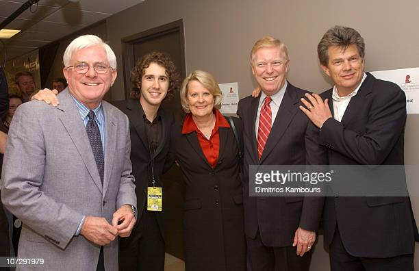 Phil Donahue Josh Groban Jane Gephardt Dick Gephardt and David Foster