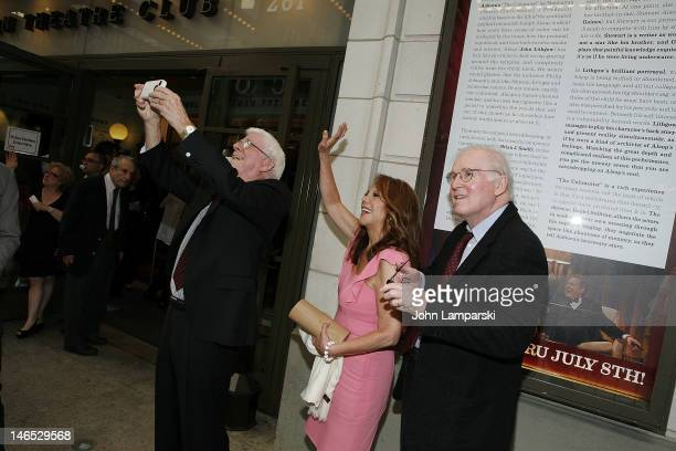 Phil Donahue Marlo Thomas and Charles Grodin attend the Manhattan Theatre Club's Celebration Of Lynne Meadows' 40th Anniversary as Artistic Director...