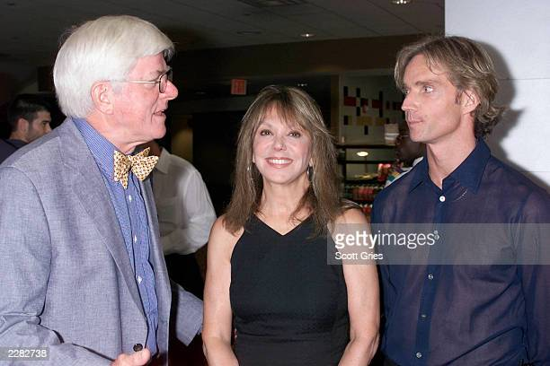"Phil Donahue, Marlo Thomas, and director Kenneth Haywood at the pre-screening party for ""A Level Field"" at the AMC Empire 25 theaters in New York..."