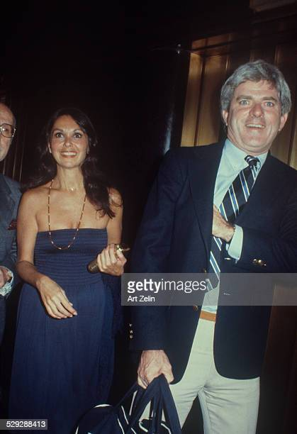 Phil Donahue with his wife Marlo Thomas circa 1970 New York