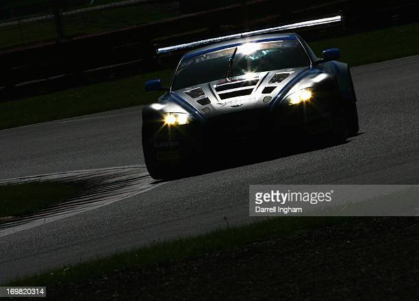 Phil Dryburgh drives the PGF Kinfaun AMR Aston Martin Vantage GT3 during the Blancpain Endurance GT Series race at the Silverstone Circuit on June 2...