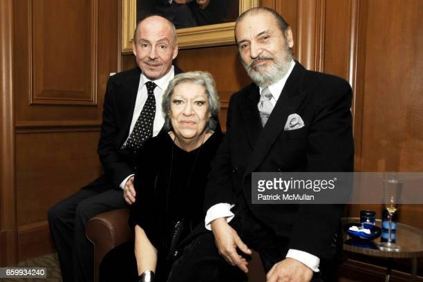 Phil Dugan, Elsa Peretti and Xavier Corbero attend ELSA PERETTI Celebrates 35 Years with TIFFANY & Co. At Tiffany & Co. On December 10, 2009 in New...