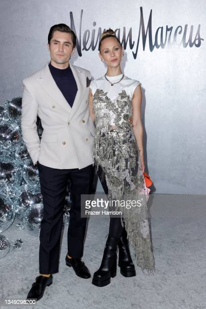 """Phil Dunster and Juno Temple attend the Neiman Marcus Celebrates The Launch Of Their """"Celebrate Big, Love Even Bigger"""" Holiday Campaign With 2021..."""