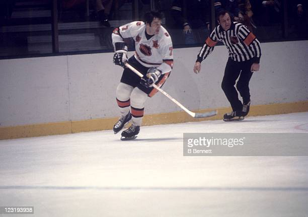 Phil Esposito of the Boston Bruins and Team East skates on the ice during the 26th NHL AllStar Game against Team West on January 30 1973 at the...