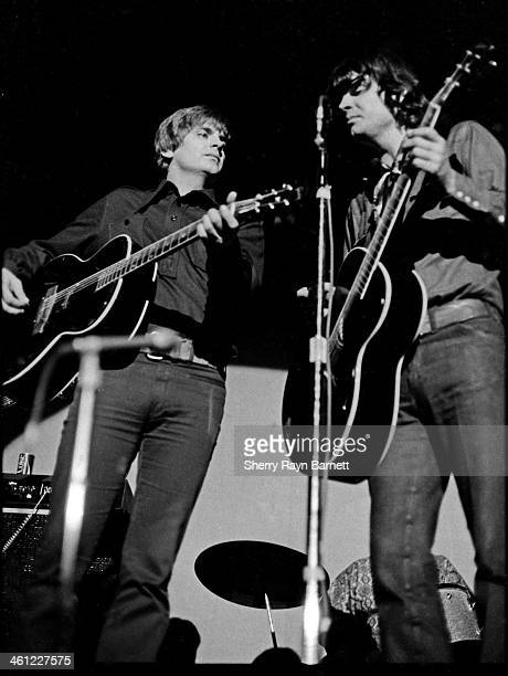Phil Everly and Don Everly of The Everly Brothers during a performance at NYU He's pictured with his classic Gibson Everly Brothers guitar in 1969 in...