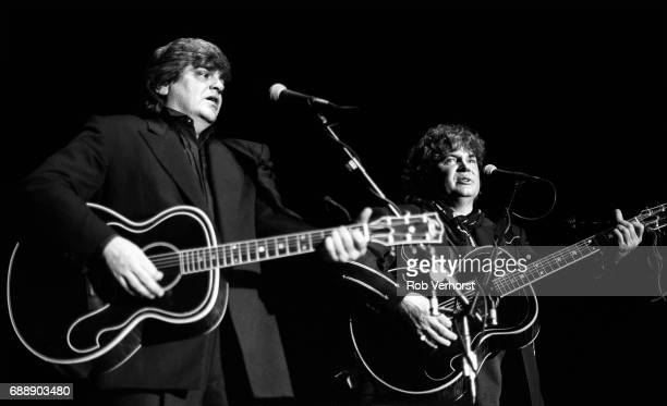 Phil Everly and Don Everly of the Everly Brothers perform on stage Ahoy Rotterdam Netherlands 23rd May 1993
