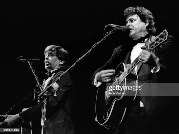 Phil Everly and Don Everly of the Everly Brothers perform on stage Ahoy Rotterdam Netherlands 29th October 1988