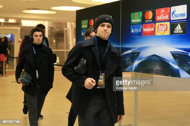 Phil Foden of Manchester City arrives at the stadium prior to the UEFA Champions League group F match between Shakhtar Donetsk and Manchester City at...