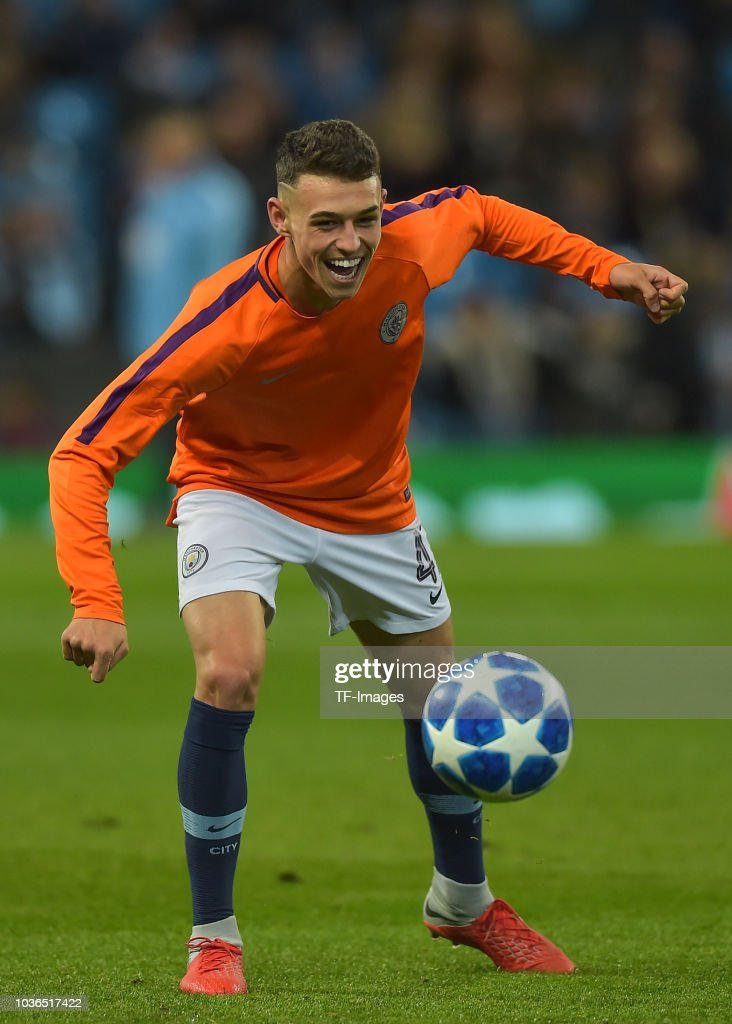 Phil Foden of Manchester City controls the ball during the ...
