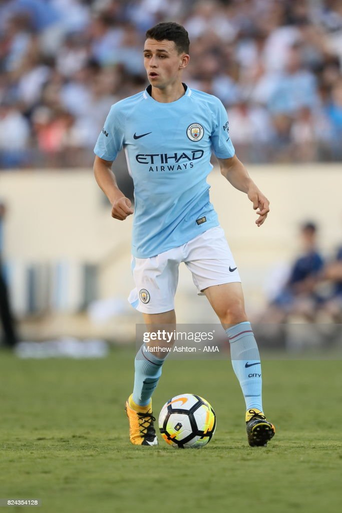 Phil Foden of Manchester City during the International Champions Cup 2017 match between Manchester City and Tottenham Hotspur at Nissan Stadium on July 29, 2017 in Nashville, Tennessee.