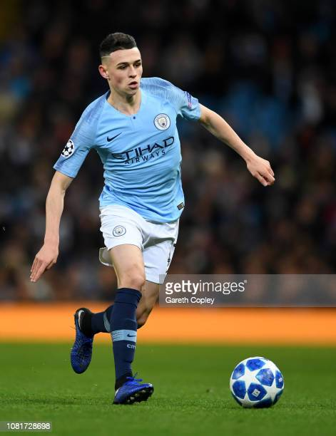 Phil Foden of Manchester City during the UEFA Champions League Group F match between Manchester City and TSG 1899 Hoffenheim at Etihad Stadium on...