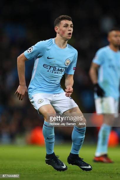 Phil Foden of Manchester City during the UEFA Champions League group F match between Manchester City and Feyenoord at Etihad Stadium on November 21...