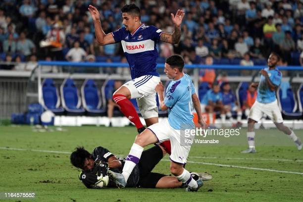 Phil Foden of Manchester City in action during the preseason friendly match between Yokohama F.Marinos and Manchester City at Nissan Stadium on July...