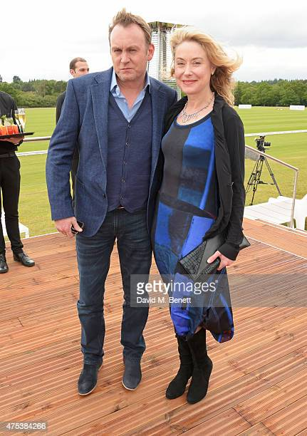 Phil Glenister and Beth Goddard attend day two of the Audi Polo Challenge at Coworth Park on May 31 2015 in London England