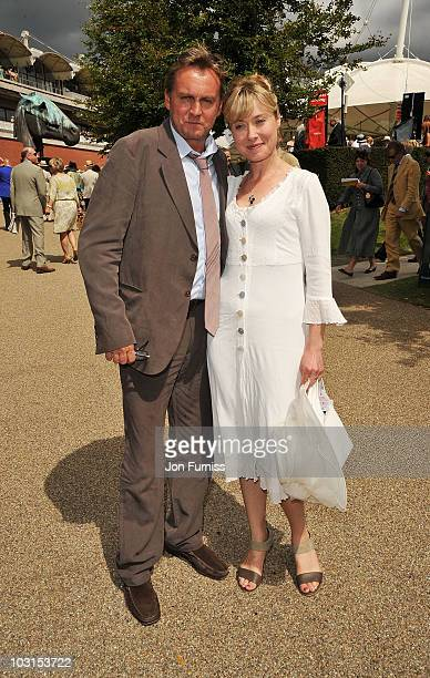 Phil Glenister and guest attend Ladies Day at the Glorious Goodwood Festival at Goodwood on July 29 2010 in Chichester England