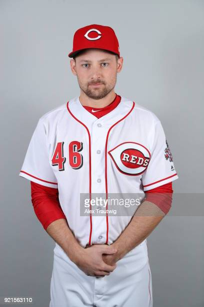 Phil Gosselin of the Cincinnati Reds poses during Photo Day on Tuesday February 20 2018 at Goodyear Ballpark in Goodyear Arizona