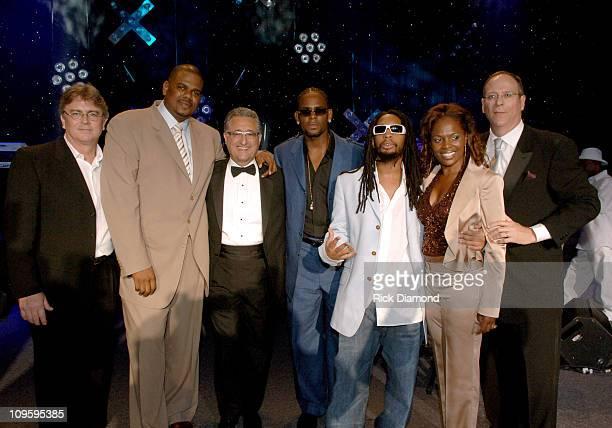 Phil Graham, BMI Senior Vice President, Big Jon Platt, Executive Vice President, Urban Music, U.S., Del R. Bryant, President/CEO BMI, R. Kelly, Lil'...