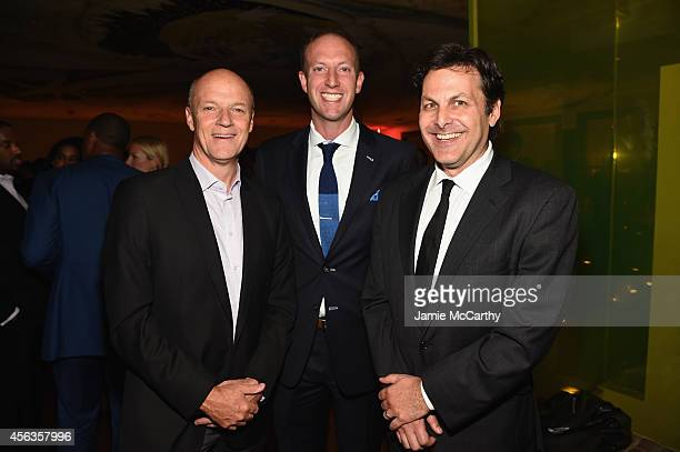 Phil Griffin Jamie Horowitz and Bill Wolff attend the CAA TV News Party 2014 on September 29 2014 in New York City