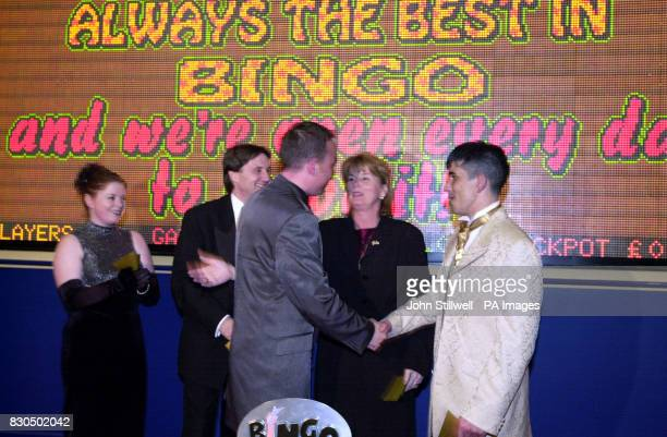 Phil Groom is congratulated on being declared Britain's Bingo Caller of the Year at the Palace Bingo Club at Elephant and Castle London Phil is from...