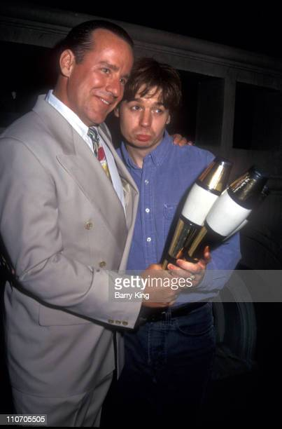 Phil Hartman and Mike Myers during Phil Hartman and Saturday Night Live Castmates at Party in Los Angeles California