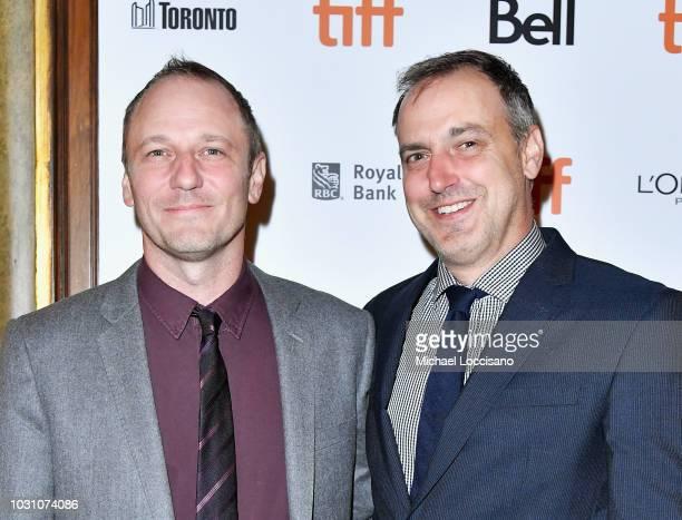 Phil Hay and Matt Manfredi attend the Destroyer premiere during 2018 Toronto International Film Festival at Winter Garden Theatre on September 10...