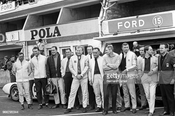 Phil Hill, Dan Gurney, Jerry Grant, Dick Thompson, Alan Grant, Jack Sears, Bob Johnson, Ken Miles, Carroll Shelby, Chris Amon, Innes Ireland, 24...